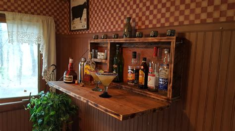 Wall Mounted Bar Cabinets For Home by Rustic Murphy Bar Wall Mount Bar Cave Liquor Cabinet