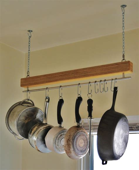 Kitchen Hooks For Pot Holders by Baltic Birch Single Bar Hanging Pot Rack And Or Plant