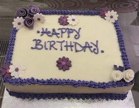 Birthday Cake Plain With Flowers  Cake And Bake