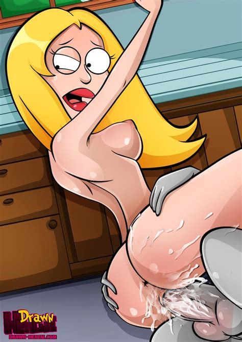 Rule 34 American Dad Batothecyborg Breasts Color Drawn