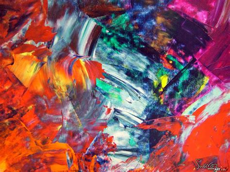 modern painting tropical coloured abstract painting called bossa tropicale