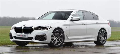 bmw 5 series facelift rendered with 3 series cues