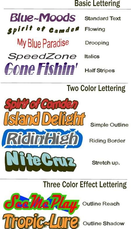 Boat Name Lettering by Boat Name Lettering Levelings