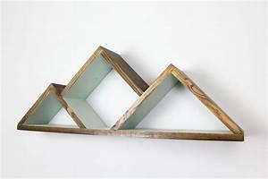 Etagere Murale Triangle : g om trique montagne plateau clayettes rayonnage triangle tablettes moderne plateau ~ Teatrodelosmanantiales.com Idées de Décoration
