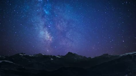 Night Sky Stars Milky Way Stock Footage Video