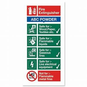 Stewart Superior Sign ABC Dry Powder Fire Extinguisher ...