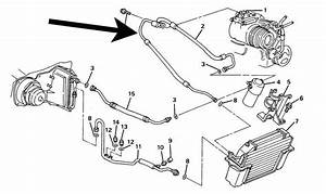 Air Conditioning Ac Compressor Hose C4 Corvette 1990 91