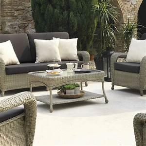 Table Basse Resine : table basse pour salon de jardin en r sine tress e brin ~ Teatrodelosmanantiales.com Idées de Décoration