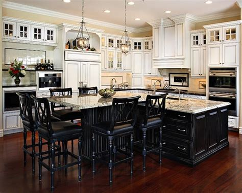 t shaped kitchen design love this want black island and white cupboards in next house t shape kitchen island design