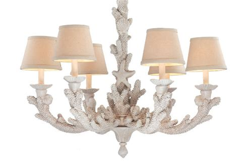 Coral Chandelier by Coral Coastal Chandelier Decorated With Style