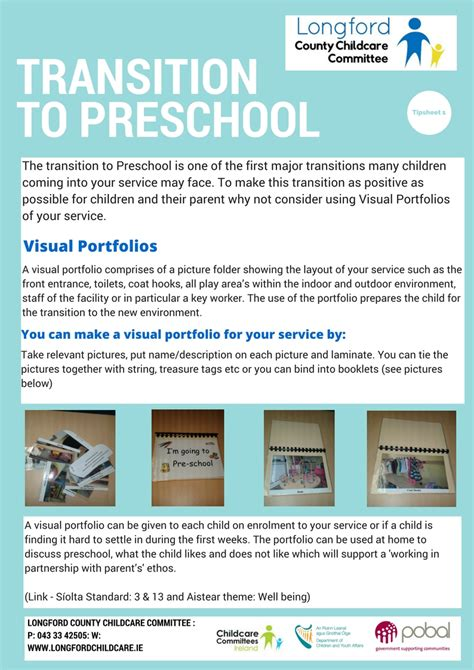 resources for eyp longford childcare committee 892 | Tipsheet 1 transition to preschool Longford County Childcare Committee