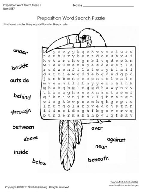 14 best images of preposition worksheet for grade 2 free