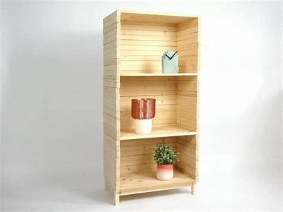 Wave Bookshelf Shelf Wood Shape Lorier Studio