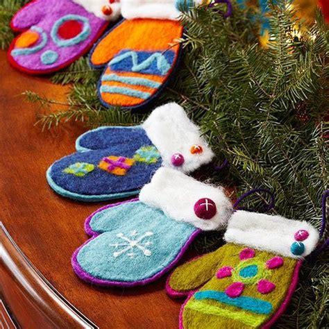 felt christmas ornaments christmas trees felting