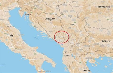 Algeria map, egypt map, libya map, morocco map, tunisia map western asia: Where Is Montenegro? Trump Puts Tiny NATO State on the Map