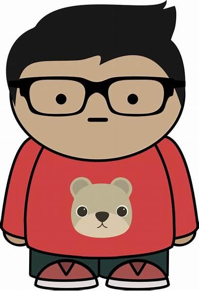 Glasses Boy Clipart Kid Vector Cartoon Clip