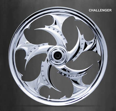 wheels chrome motorcycle custom motorcycles talon harley cycle solid machine xtreme parts streetcustommotorcycle cut skullz rims challenger