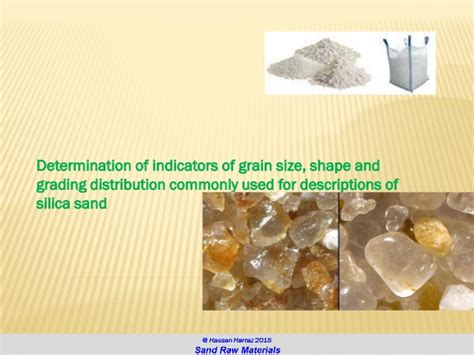 sand raw materials