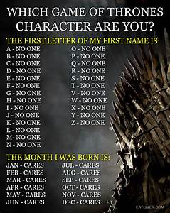 Which Game Of Thrones Character Are You? | Broadsheet.ie