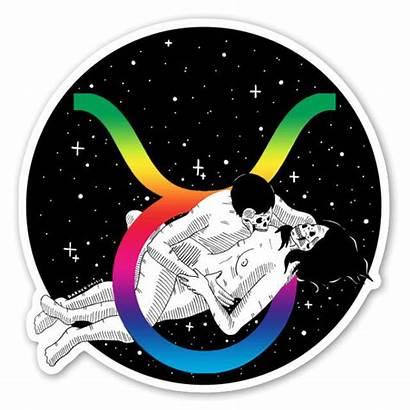 Taurus Holographic Stickerapp Leo Sticker Symboles Taureau