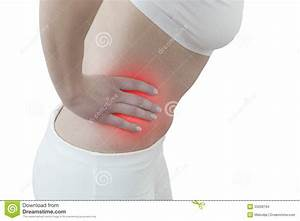 Acute Pain In A Woman Abdomen Stock Images
