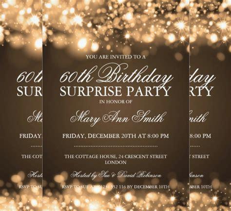 surprise birthday invitation templates  sample