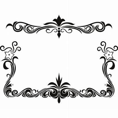 Border Pattern Clipart Floral Flower Clip Designs