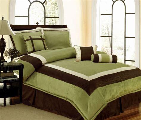 bedding sage green brown white hampton comforter set