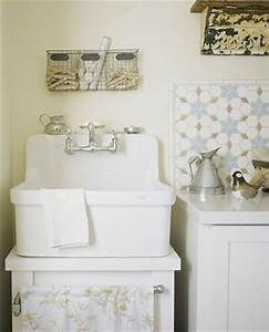 Old, Fashioned, Porcelain, Laundry, Sink