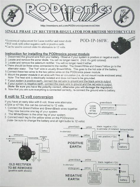 Tremendous Podtronics Regulator Rectifier Wiring Diagram Wiring Cloud Oideiuggs Outletorg