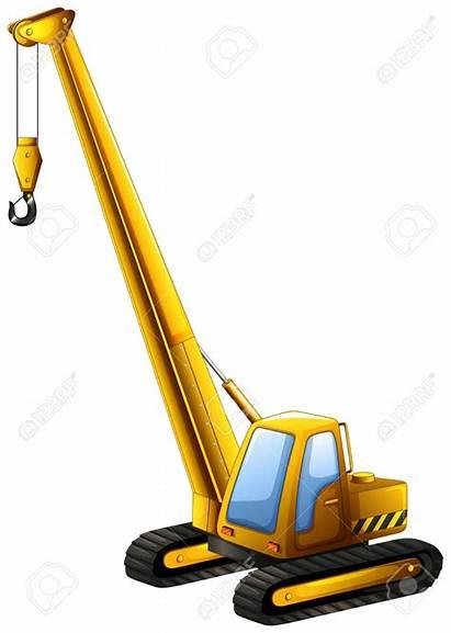 Clipart Cranes Crane Yellow Construction Truck Hook