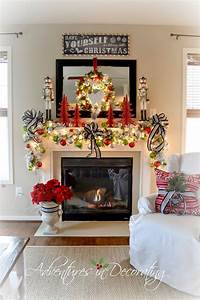 Adventures, In, Decorating, Our, 2014, Christmas, Mantel, And, Blog, Hop