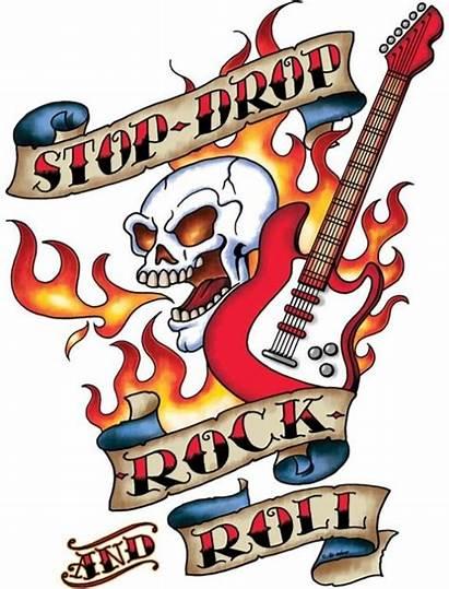 Roll Clipart Rock Tattoo Guitar Hard Drawings