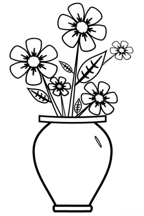 ausmalbilder zum drucken malvorlage vase mit blumen