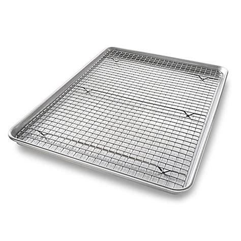 baking sheet with wire rack usa pan baking 2 pan rack set bed bath beyond
