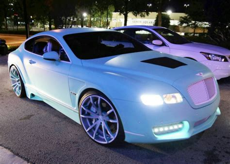 yo gottis tiffany blue bentley continental gt  forgiato