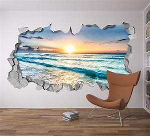 Beach view d wall art moonwallstickers