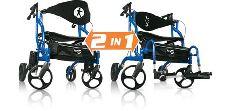 hugo 174 navigator side folding rolling walker transport