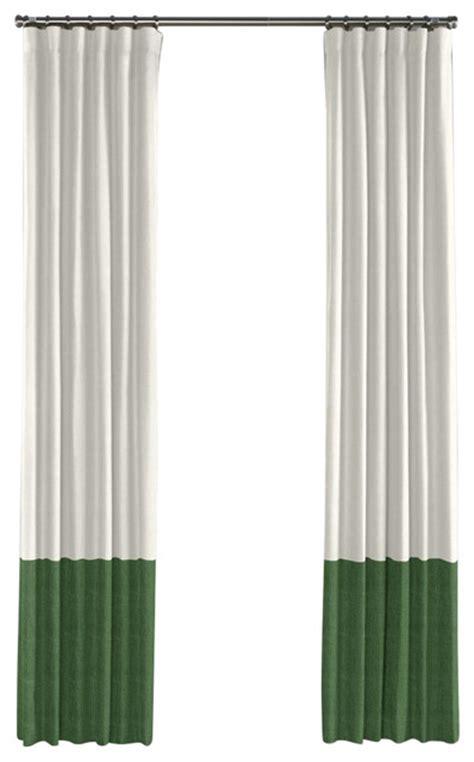 shop houzz loom decor ivory  emerald green linen