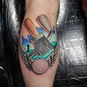 Back Arm Design 40 Golf Tattoos For Men Manly Golfer Designs