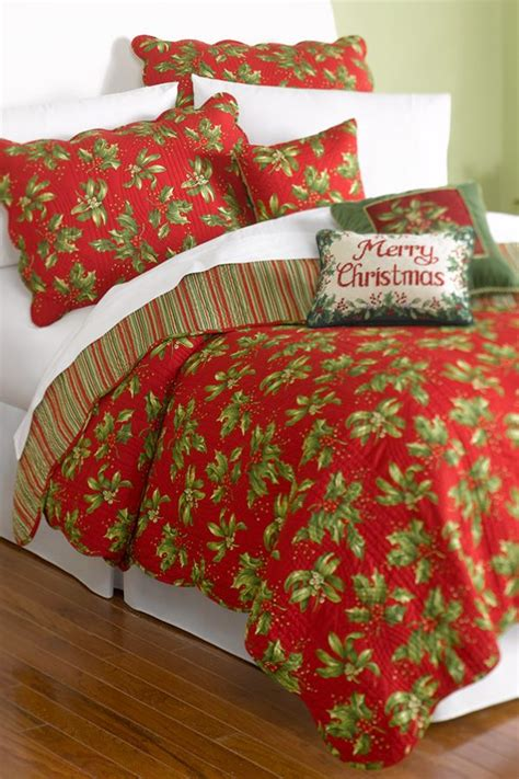 mistletoe holly quilt set belk bedding holidays