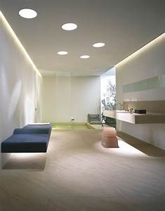 eclairage de salle de bain pour une ambiance douce With faux plafond salle de bains