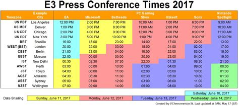 The E3 2017 Press Conference Schedule Flowchart Algoritma Greedy For Choosing Your Religion Vending Machine Naming Compounds While Do Tipe Luas Lingkaran Dan Game Labirin Menggunakan Telepon Umum