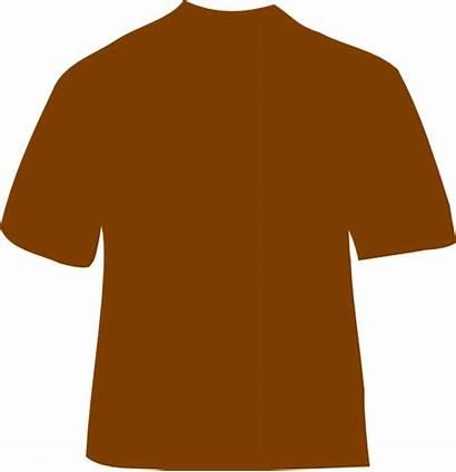 Brown Shirt Clip Clipart Clker Vector Hi