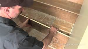 Installing Laminate Flooring On Concrete by How To Install Hardwood On Stairs Youtube
