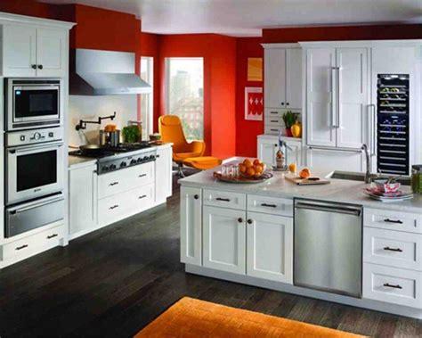 popular cabinet color kitchen design small orange