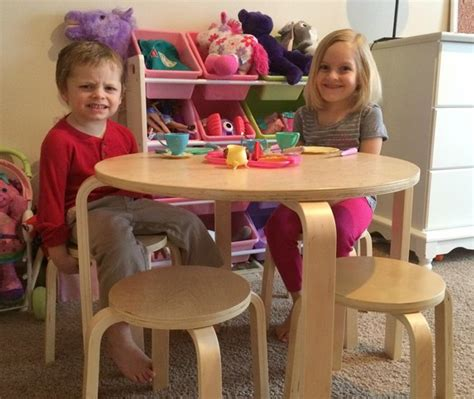a playspace with guidecraft nordic table and