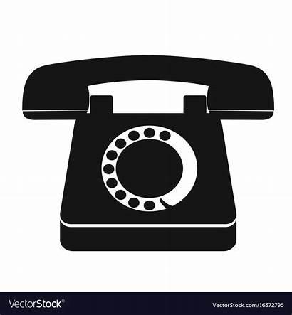 Telephone Icon Vector Single Phone Vectorstock Royalty