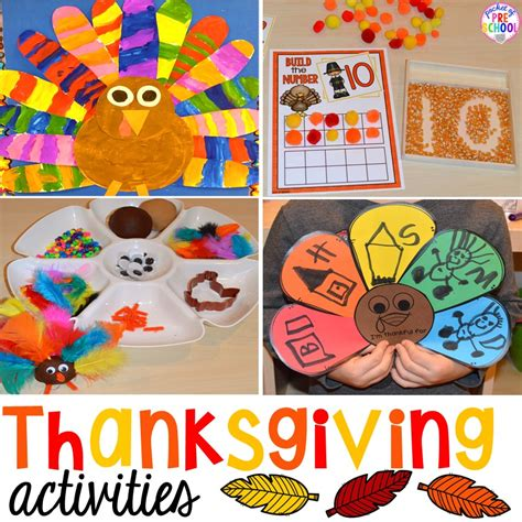 preschool literacy activities thanksgiving activities and centers for preschool pre k 837