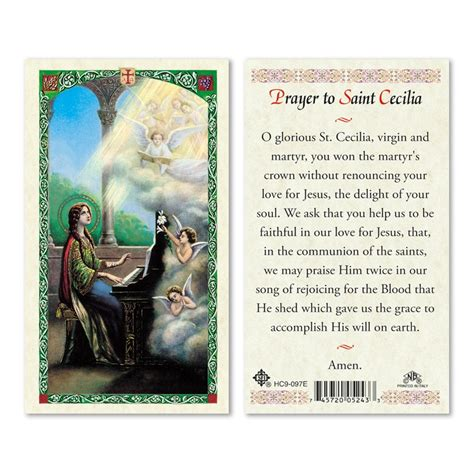 st cecilia prayer  pkg san francis